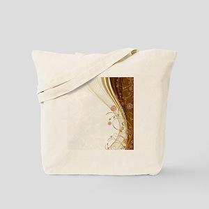 Elegant Floral Abstract Decorative Beige Tote Bag
