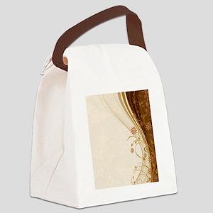 Elegant Floral Abstract Decorativ Canvas Lunch Bag