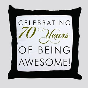 Celebrating 70 Years Glass Throw Pillow