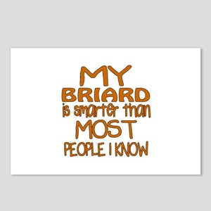 My Briard is smarter Postcards (Package of 8)