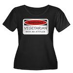 Attitude Vegetarian Women's Plus Size Scoop Neck D