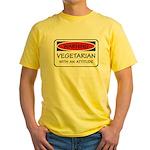 Attitude Vegetarian Yellow T-Shirt