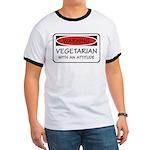 Attitude Vegetarian Ringer T