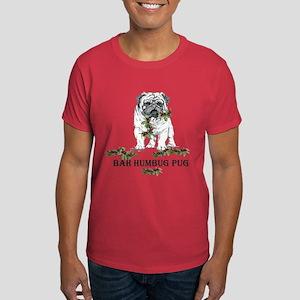 Christmas Pug Holiday Dog Dark T-Shirt