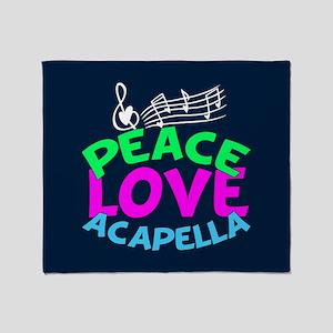 Peace Love Acapella Throw Blanket