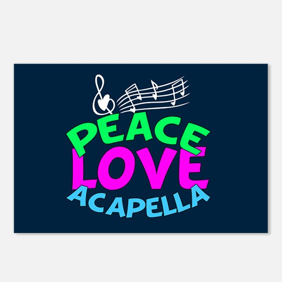 Peace Love Acapella Postcards (Package of 8)
