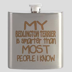 My Bedlington Terrier is smarter Flask