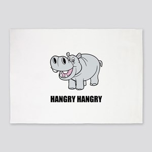 Hangry Hippo 5'x7'Area Rug