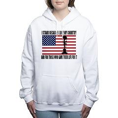 WHY I STAND Women's Hooded Sweatshirt