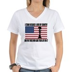 WHY I STAND Women's V-Neck T-Shirt