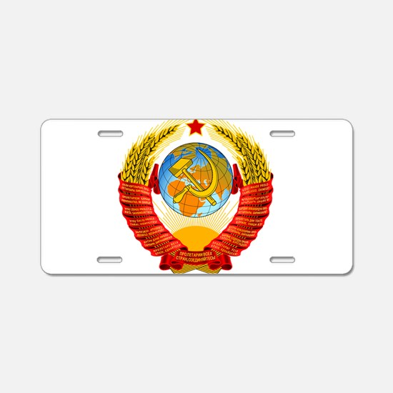 Cute Russian coat of arms Aluminum License Plate