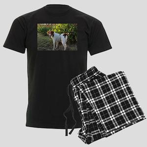 Tropical Pointing Brittany Men's Dark Pajamas