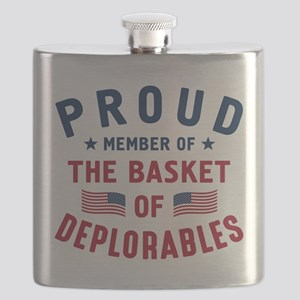 Proud Basket Of Deplorables Flask