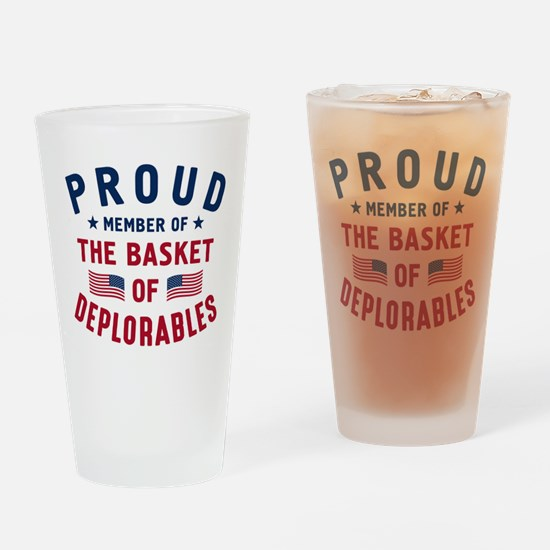 Proud Basket Of Deplorables Drinking Glass
