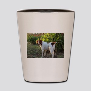 Tropical Pointing Brittany Shot Glass