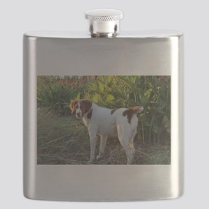 Tropical Pointing Brittany Flask