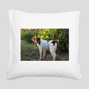 Tropical Pointing Brittany Square Canvas Pillow