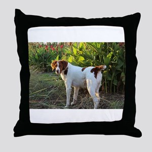 Tropical Pointing Brittany Throw Pillow