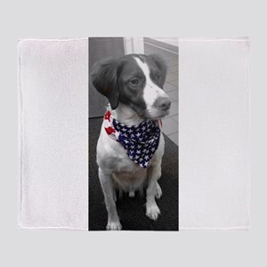 Patriotic Bird Dog Throw Blanket