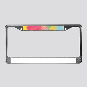 Pastel Watercolors License Plate Frame