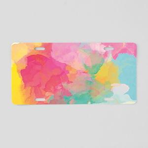 Pastel Watercolors Aluminum License Plate