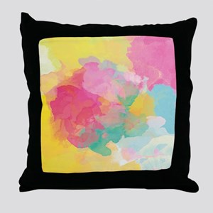 Pastel Watercolors Throw Pillow