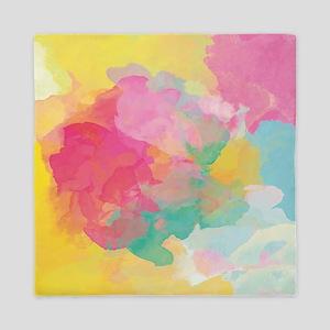 Pastel Watercolors Queen Duvet