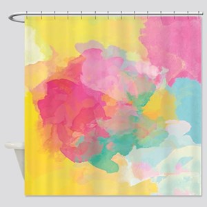 Pastel Watercolors Shower Curtain