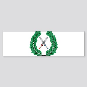 Crown Of Olive Leaves With Swords Bumper Sticker