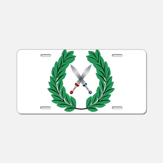 Crown Of Olive Leaves With Aluminum License Plate