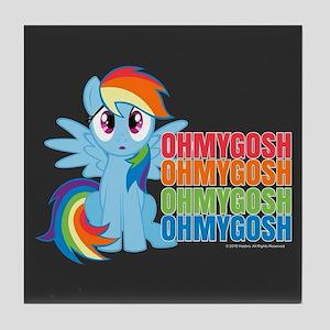 MLP Rainbow Dash OMG Tile Coaster