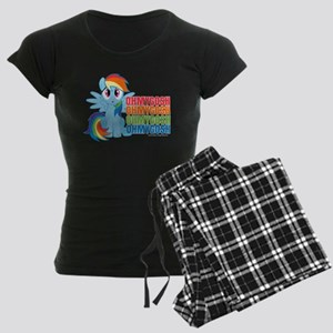 MLP Rainbow Dash OMG Women's Dark Pajamas