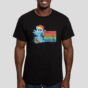 MLP Rainbow Dash OMG Men's Fitted T-Shirt (dark)