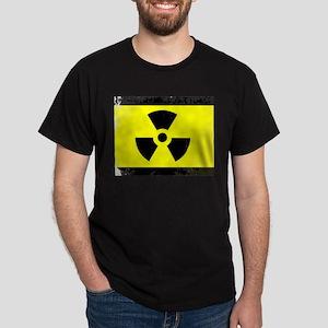 Worn Radioactive Warning Symbol T-Shirt