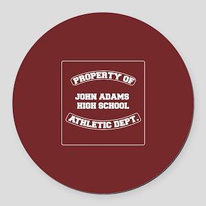 John Adams High School Round Car Magnet