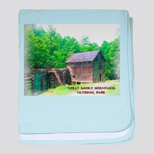Great Smoky Mountains NP Mingus Mill baby blanket