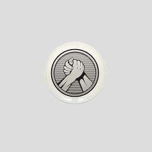 Arm wrestling Silver Mini Button