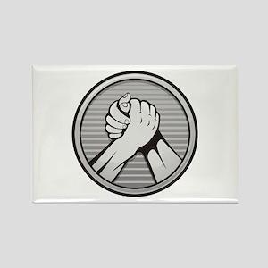 Arm wrestling Silver Magnets