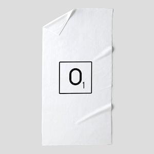 Scrabble O Names Beach Towel