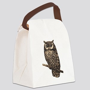 Majestic Owl Canvas Lunch Bag