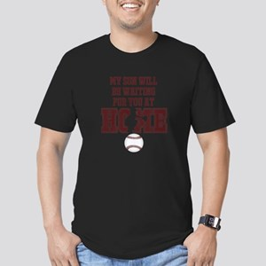 My Son Will Be Waiting for You At Home - Maroon T-