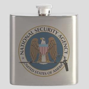 NSA Boom Logo Flask