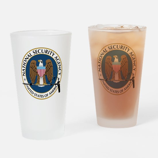 NSA Boom Logo Drinking Glass