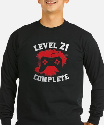 Level 21 Complete 21st Birthday Long Sleeve T-Shir