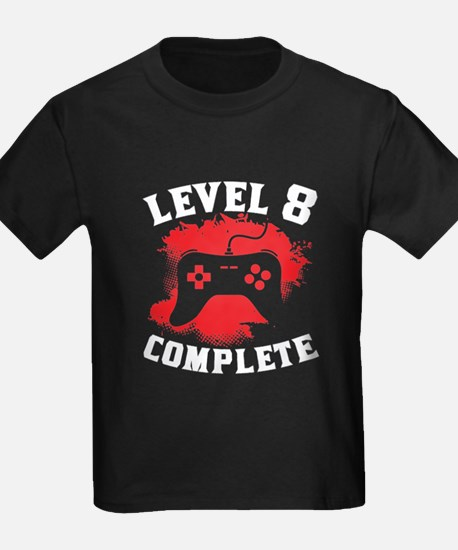 Level 8 Complete 8th Birthday T-Shirt