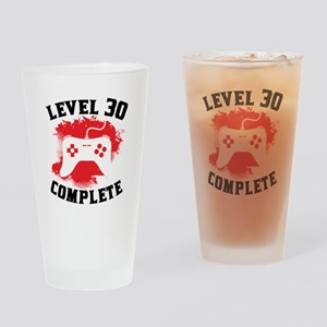 Level 30 Complete 30th Birthday Drinking Glass