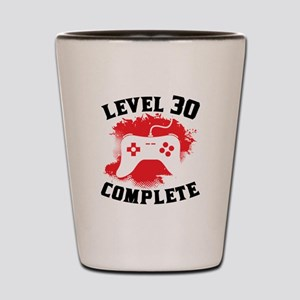 Level 30 Complete 30th Birthday Shot Glass
