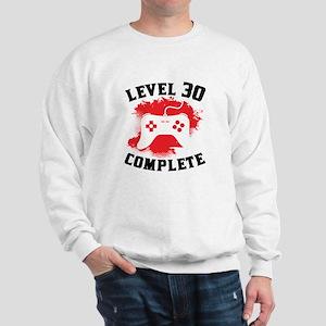 Level 30 Complete 30th Birthday Sweatshirt