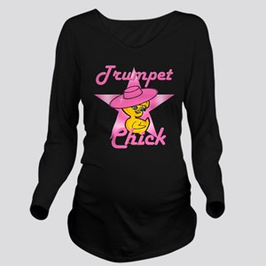 Trumpet Chick #8 Long Sleeve Maternity T-Shirt