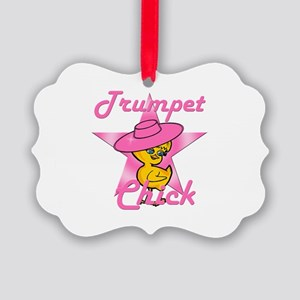 Trumpet Chick #8 Picture Ornament